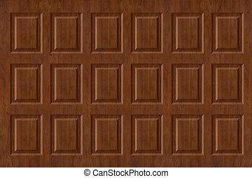 Raised Wood Paneling - Raised walnut wall paneling texture