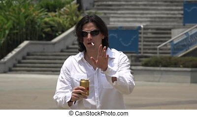 quot;Man, Male, Smoking, Beer, Alcoholquot; - Man, Male,...