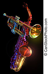 gelled trumpet and saxaphone - gelled trumpet saxaphone