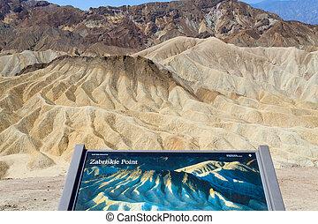 View from Zabriskie Point, California, USA Desert panorama...