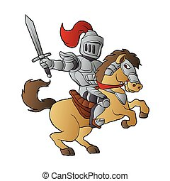 Knight on Horse vector illustration