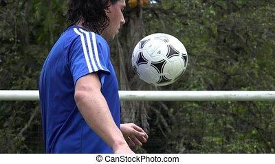 Soccer Player Doing Soccer Tricks