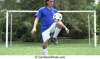 Soccer Player Doing Soccer Tricks