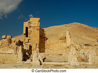 ancient monuments located in the city of palimira in Syria