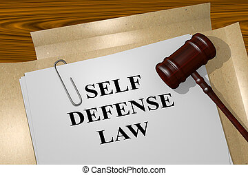 Self Defense Law legal concept - 3D illustration of SELF...