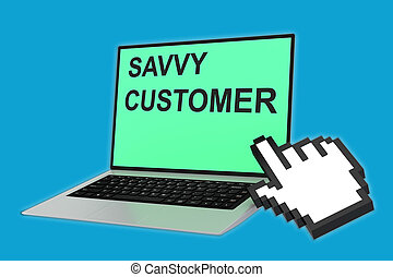 Savvy Customer concept - 3D illustration of SAVVY CUSTOMER...
