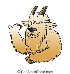 Mountain Goat cartoon.vector illustration