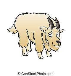 Mountain Goat Mascot.vector illustration