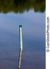 Water level measurement gauge.