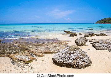 Beach and tropical sea at Koh kood island, Trat province,...