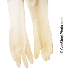 medical gloves isolated