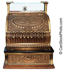 old fashioned cash register orthographic - old fashioned...