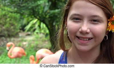 Pretty Young  Smiling Girl