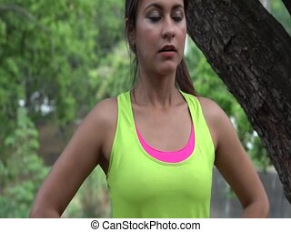 Fitness Woman Toning And Stretching
