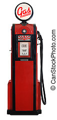 1950s gas pump - red 1950\'s era gas pump