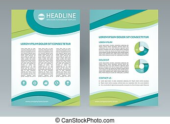 Vector brochure flyer design template A4 size - Brochure...