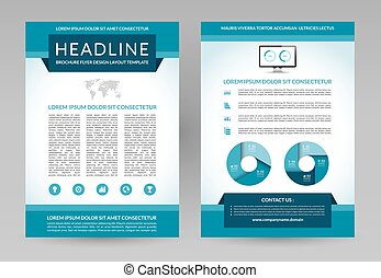 Vector brochure flyer design template A4 size - Vector...
