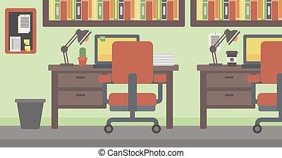 Background of office workplace.