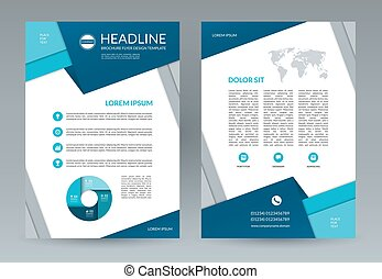 Brochure flyer design template A4 size - Brochure flyer...