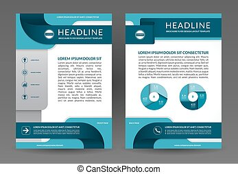 Vector brochure annual report layout template - Vector...
