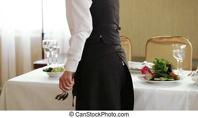 Serving table on banket