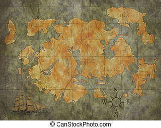 Treasure Map - treasure map background