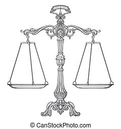 Vector scales of justice