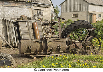 Scrap-iron - old scrap, waste to pollute the nature.