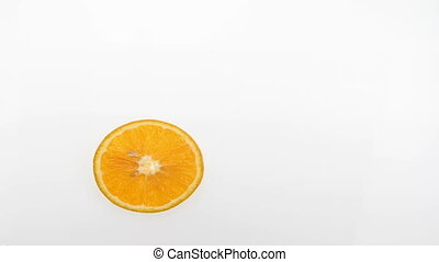 citrus fruits stop motion - Fruit citrus animation over...