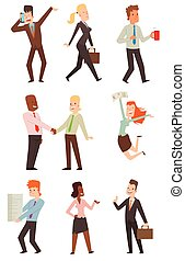 Business people vector illustration. - Group of smiling...