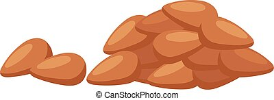 Pile of nuts vector illustration - Heap from various kinds...