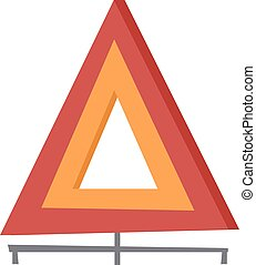 Emergency warning triangle vector illustration.
