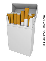 Packet of cigarettes - blank packet of cigarettes; 3D...