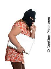 Child Stealing Laptop