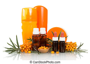Bunches of sea buckthorn and cosmetic products based on it...