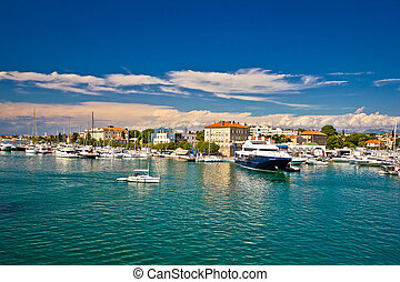 Town of Zadar harbor view, Dalmatia, Croatia