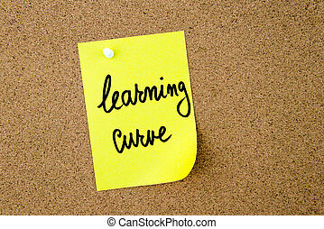 Learning Curve written on yellow paper note