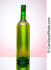 Bottle of wine against the background