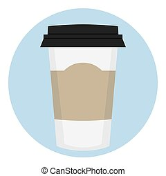 Coffee Paper Cup With Empty Lable - Coffee Paper Disposable...
