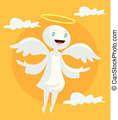 Cartoon angel