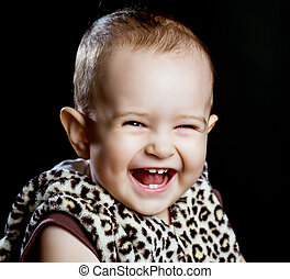 happy laughing baby