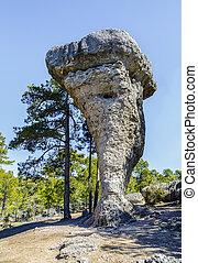 enchanted city of Cuenca Spain - Image of Unique rock...