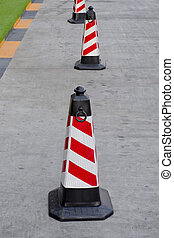traffic cone red and white colors