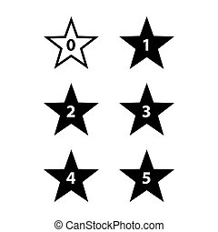 Stars Rating - Simple Stars Rating. Black Shapes on White...