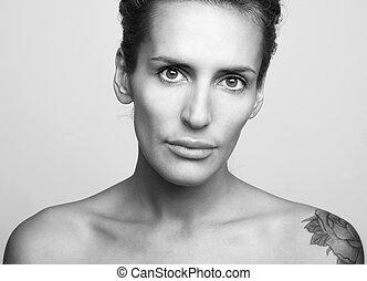 retrato, mujer