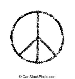 peace symbol icon vector friendship pacifism - peace symbol...