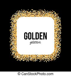 Golden Frame in the Form of Square with Text on Black
