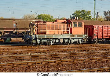 Freight Train Wagons - Freight train at a terminal