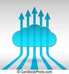 Abstract technology cloud