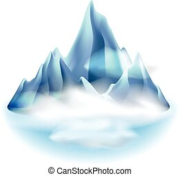 Mountains icon isolated on white vector